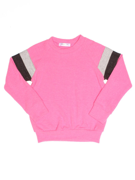 JOAH LOVE Baron Long Sleeve Striped Sweatshirt