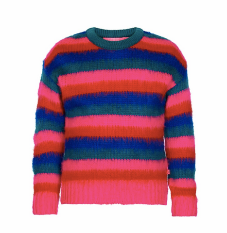 LE BIG Girls Striped Sweater