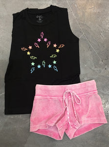 Flowers by Zoe Neon Star Muscle Tee