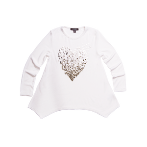 IMOGA Girls Amber Long Sleeve Top with Heart