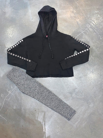 So Nikki Cropped Black Hoodie