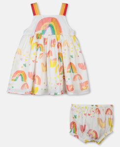 Stella McCartney Painted Rainbow Cotton Dress