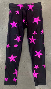 Dori Creations Leggings - Fuschia Stars