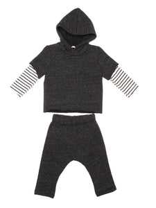 JOAH LOVE Crosby Baby Long Sleeve Hooded Shirt & Pants