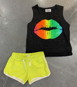 Rock Candy Neon Lips Tank