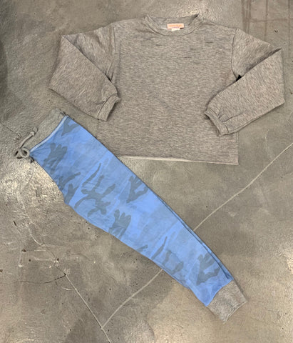 T2Love - Blue Camo Sweatpants