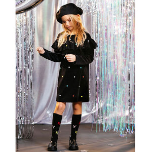 SONIA RYKIEL Girls Velvet Polka Dot Dress