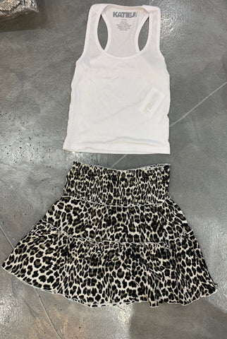 Flowers by Zoe Leopard Print Skirt