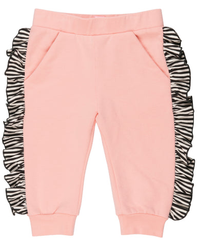 WAUW CAPOW Girls Pink Ruffle Pants