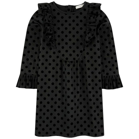 STELLA MCCARTNEY Girls Dot Print Ruffle Long Sleeve Dress