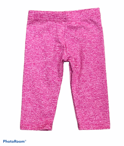 Dori Creations - Heathered Capri Leggings - Pink/White