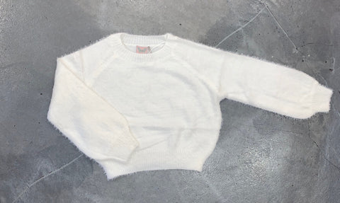 For All Season Fluffy White Sweater