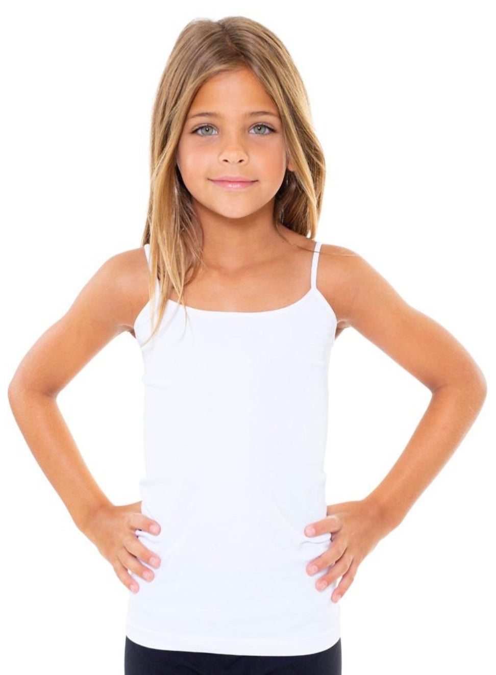 Malibu Sugar - Solid Full Cami for Tweens White