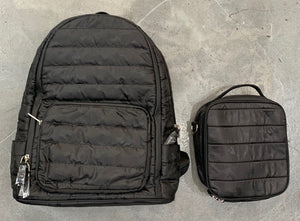 Bari Lynn Backpack, Black Camo Quilted