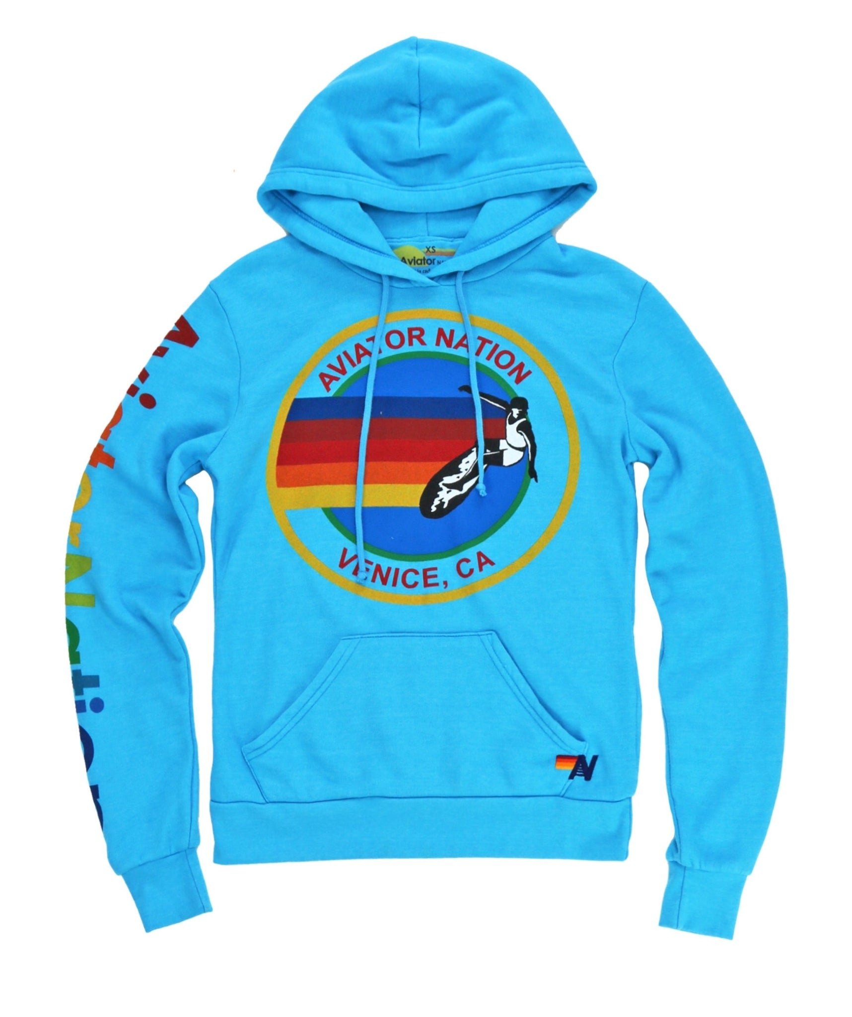 AVIATOR NATION PULLOVER HOODIE - NEON BLUE