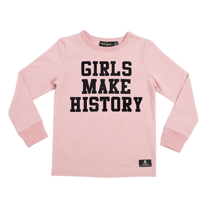 "ROCK YOUR BABY ""Girls Make History"" Long Sleeve Top"