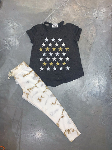 Rock Candy Metallic Star Cut Tee