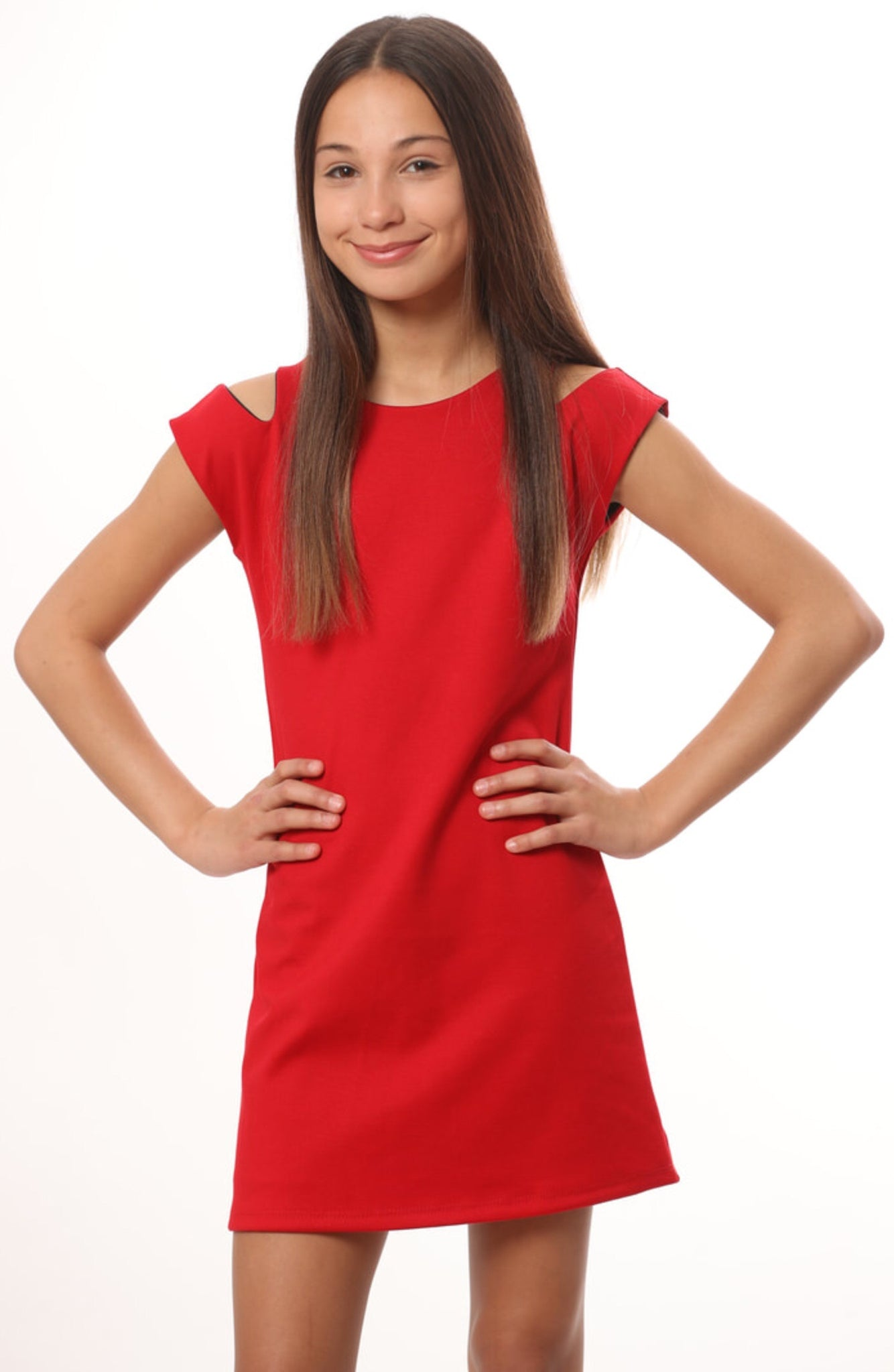 LES TOUT PETIT Girls Red Dress