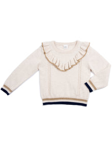 EGG BABY Girls Sadie Ruffle Sweater