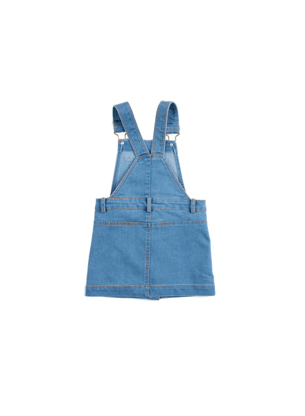 EGG BABY Girls Jeanette Denim Overall Dress