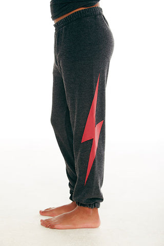 CHASER Boys Sweatpants with Lightning Bolts