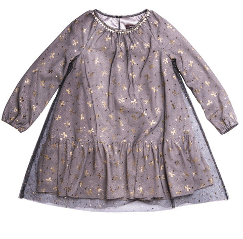 IMOGA Girls Rosaline Bow Print Dress