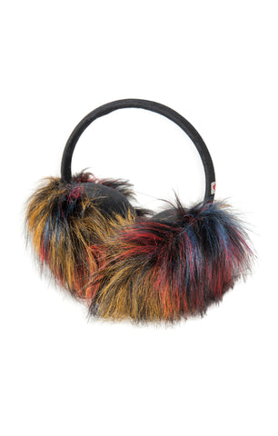 APPAMAN Girls Fuzzy Black Earmuffs