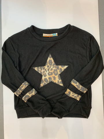VINTAGE HAVANA Girls Leopard Star Shirt