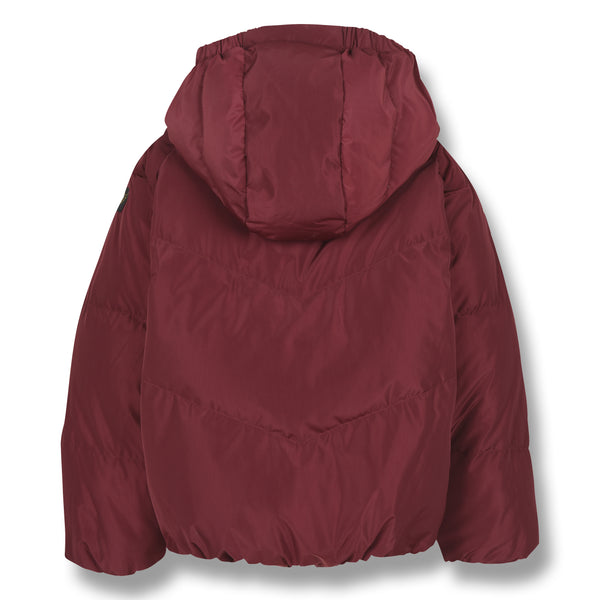 FINGER IN THE NOSE Colorblock Reversible Down Jacket