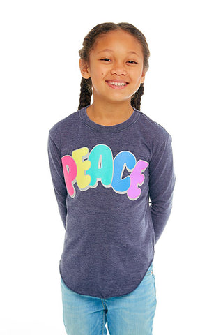 CHASER Girls Peace Long Sleeve Tee