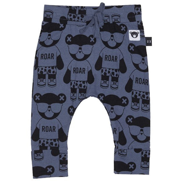 HUXBABY Panda Print Drop Crotch Pants