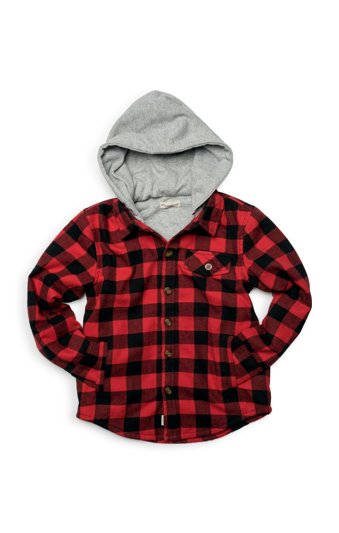 APPAMAN Boys Button Down Red/Black Check Shirt