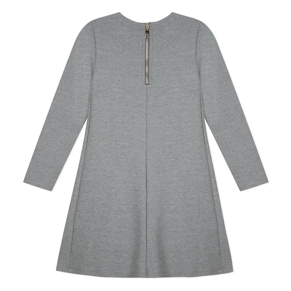 LILI GAUFRETTE Girls Grey Milano Jersey Dress