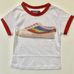 SPARKLE BY STOOPHER Rainbow Sneakers Red Foil T