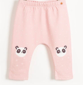 BONNIE MOB Dixie Harem Pant with Panda Print Knees