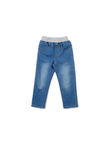 EGG BABY Denim Pants with Knit Waist