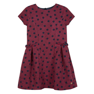 LILI GAUFRETTE Girls Red Jacquard Dress