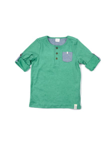 EGG BABY Kyle Short Sleeve Henley T Shirt