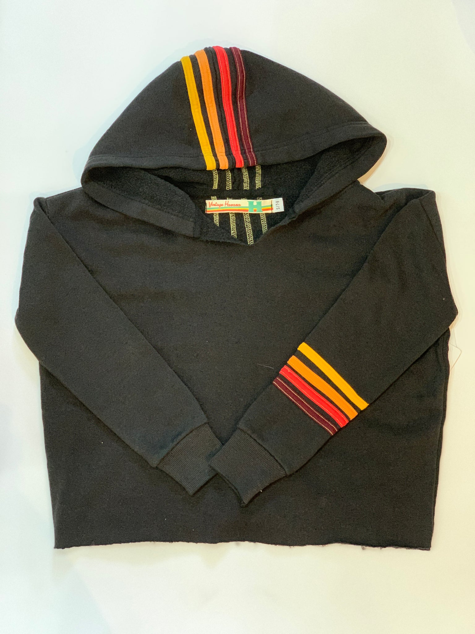 VINTAGE HAVANA Hoodie with Rainbow Stripe