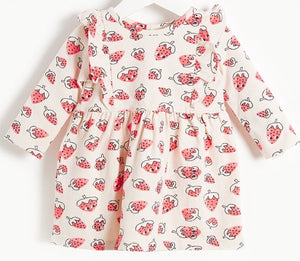 BONNIE MOB Sally Strawberry Print Dress
