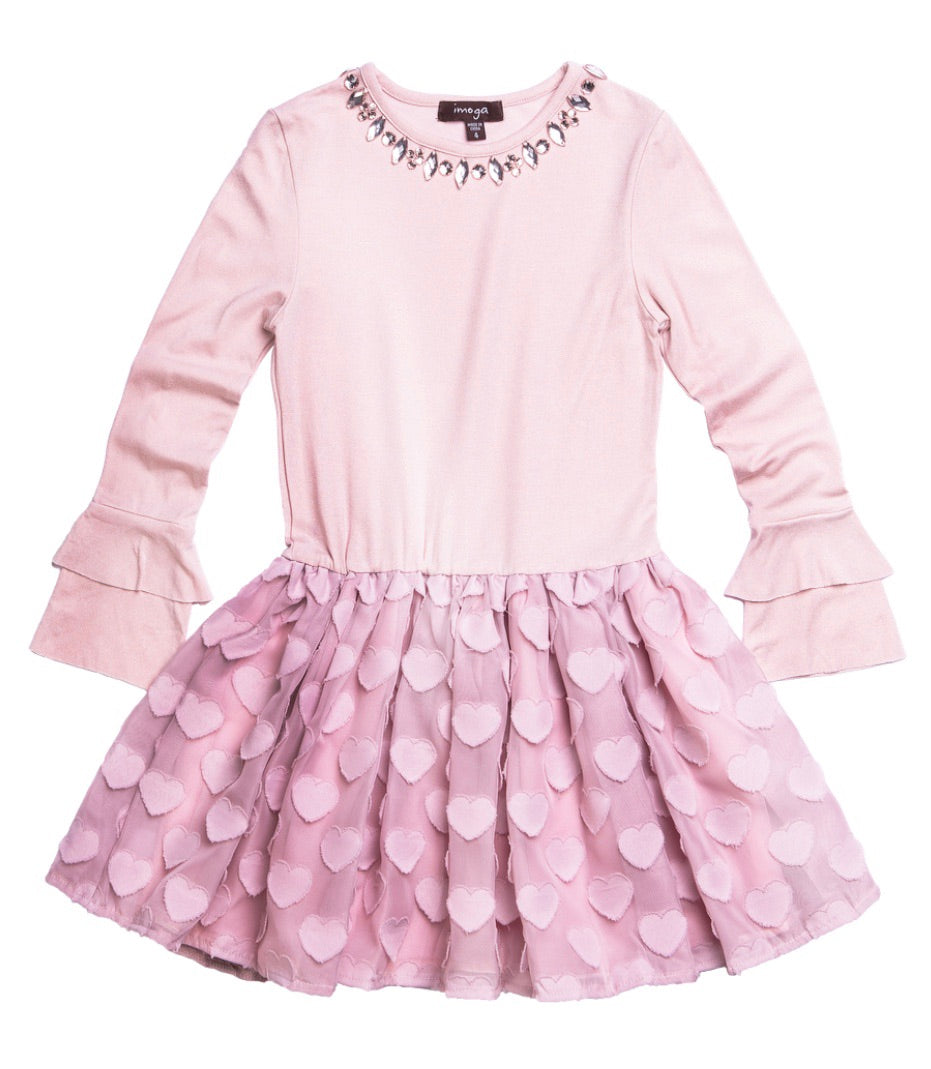 IMOGA Girls Saylor Dress with Heart Skirt