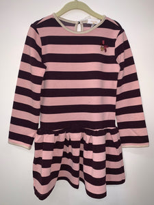 LE CHIC Girls Long Sleeve Striped Dress