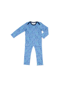 EGG BABY Tegan Animal Forest Print  Pajama Set