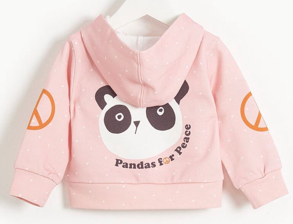 BONNIE MOB Girls Donny Panda for Peace Zip Hoodie