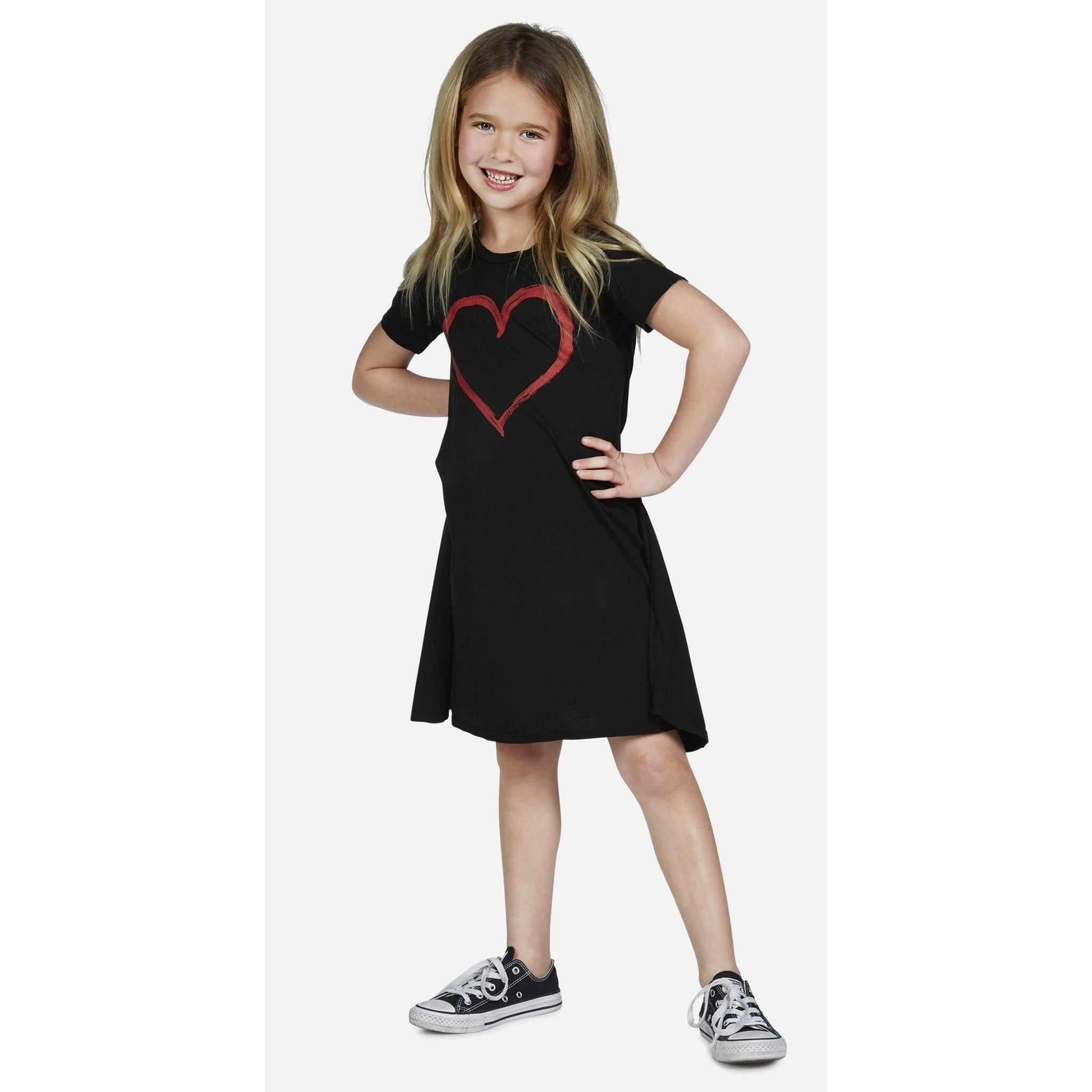 LAUREN MOSHI Swing Dress with Spray Heart