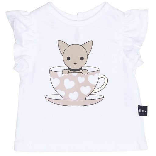HUXBABY Chihuahua Frill S/S Top