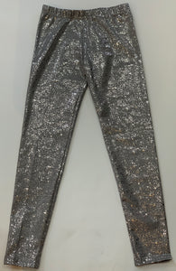 DORI CREATIONS Girls Silver Splatter Leggings