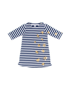 EGG BABY Girls Nina Dress with Stripes and Stars