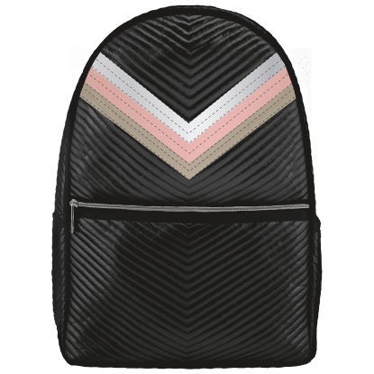 ISCREAM Rainbow Black Chevron Backpack