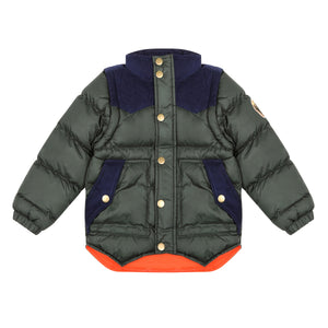VELVETEEN Boys Moss Green Jacket
